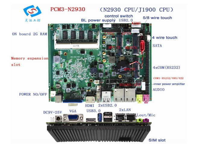 Onboard Bay Trail Celeron J1900 firewall motherboard mini itx 4 lan Quad core CPU SSD 3G WIFI Lüfterlose