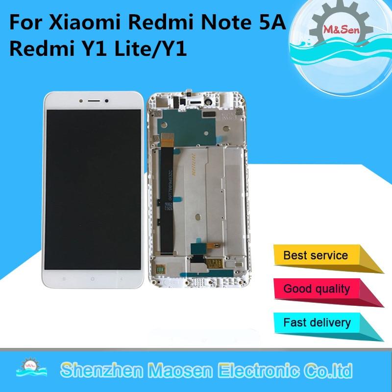 M & Sen-شاشة Lcd تعمل باللمس مع إطار محول رقمي ، 5.5 بوصة ، لهاتف Xiaomi Redmi Note 5A ، Y1 Lite/Y1 ، أصلي