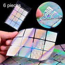 Pochoir autocollant Laser creux, produits de manucure Gel de vernis à ongles pointe de vinyle modèle de transfert autocollants pour ongles