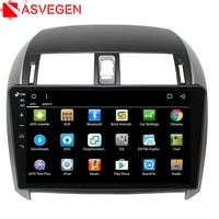 asvegen 2 din android quad core touch screen dvd player for toyota corolla 2007 2013 gps navigation stereo video multimedia
