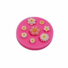 Moule à biscuits silicone petit gâteau fleur   Moule fait main à chocolat, moule à gâteaux décoration gadget bricolage cuisine, moule à biscuits