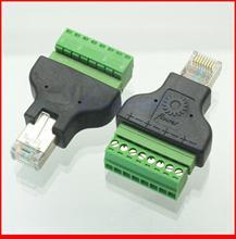10 pz/lotto Ethernet 8P8C RJ45 spina maschio a AV Terminale Connettore Adapter CCTV Radio