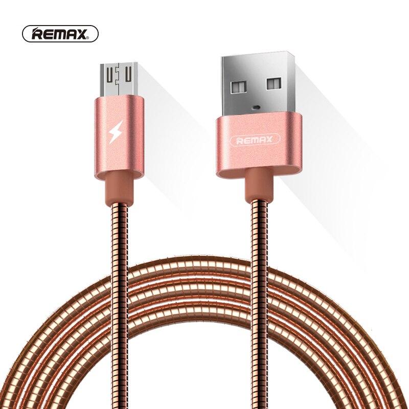 Câble de synchronisation de données Micro USB à ressort métallique Remax pour samsung Xiaomi huawei 2.1A câbles de charge rapide 8pin pour iphone X 8 7 6 5s