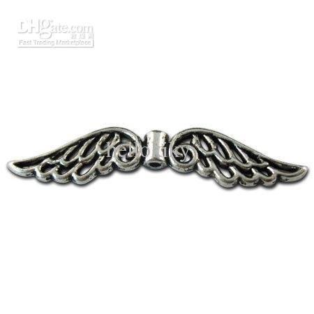 180pcs Tibetan silver wings spacer beads A10808