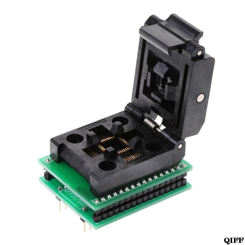 Drop Ship&Wholesale TQFP32 QFP32 TO DIP32 IC Programmer Adapter Chip Test Socket SA663 Burning Seat APR28
