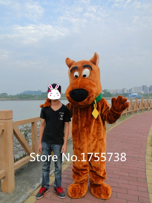 Scooby-doo déguisement de mascotte scooby-doo vêtements chien déguisement de mascotte