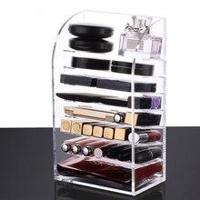 Multi-schicht make-up organizer acryl lippenstift halter make-up fall kosmetik lagerung box nagellack Display Stand rack