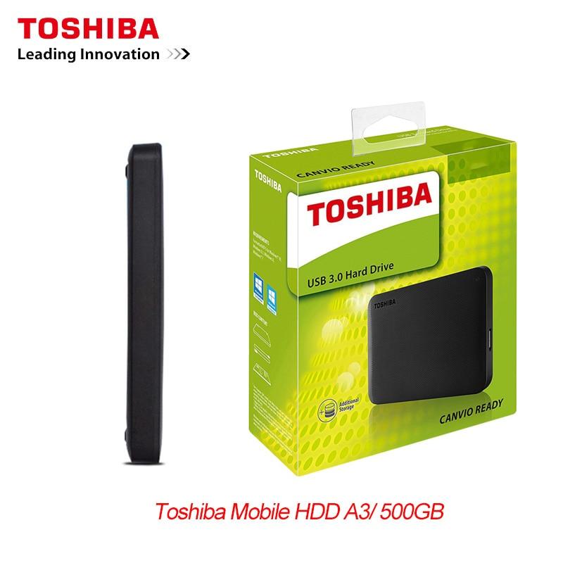 قرص القرص الصلب المحمول الجديد توشيبا 500GB محرك الأقراص الصلبة الخارجية HD 2.5 \