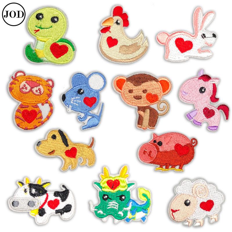 Parches para planchar con bordado de animales de mouse pig para ropa, parches de dibujos animados para niños, parches adhesivos para ropa insignias de niños proveedores