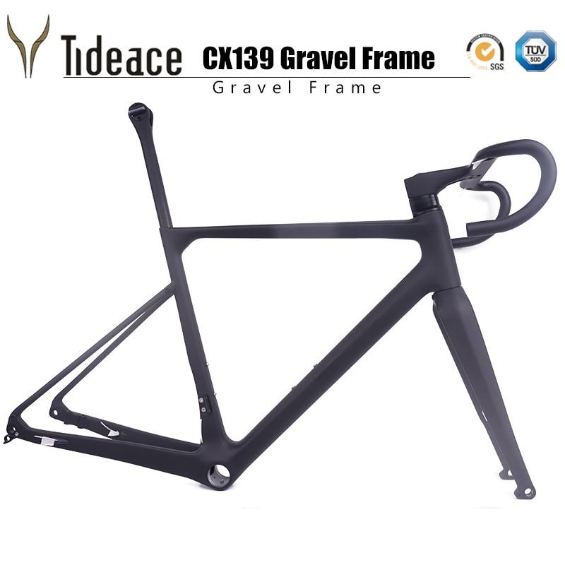 Freno de disco de 920g T1000 de fibra de carbono de la tumba de bicicleta de carreras estructura ciclocrós bicicleta de Marcos incluyendo manubrio