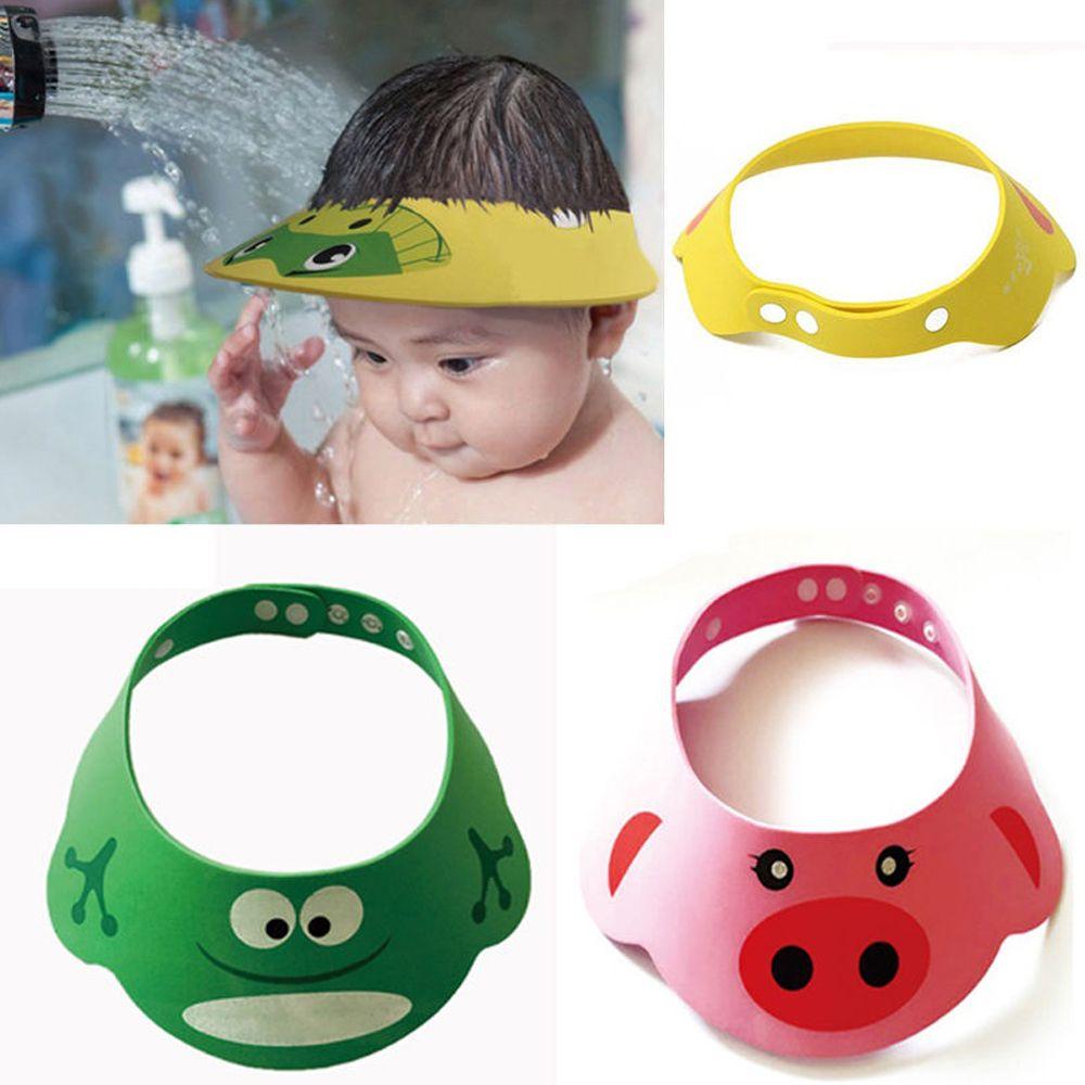 Adjustable Hair Wash Shield For Baby Toddler Kids Safe Shampoo Bathing Shower Cap Wash Hair Visor Caps For Baby Care