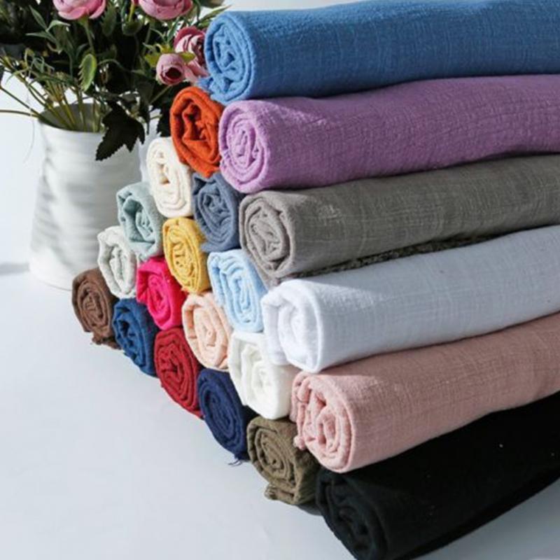 Tela suave Lino algodón 130x100cm Material orgánico puro Lino Natural Cambric Eco DIY ropa Patchwork tela
