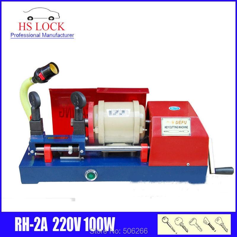 100% máquina de corte de llave de RH-2A original defu 220v 100 w, máquina de plisado de llave de coche hecha en CHina
