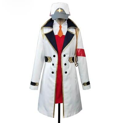 Anime DARLING in the FRANXX 02 Cosplay traje DFXX Zero dos abrigos gorra blanca chaqueta sombrero
