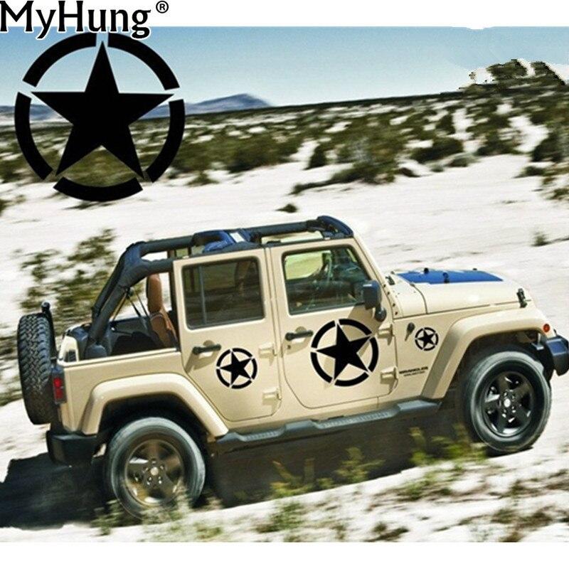 Exército DOS EUA Estrela Afligida Estilo Do Carro Decalque Adesivo Apto para Jeep Etiqueta Do Carro Do Corpo Do Carro Do Exército Dos Estados Unidos-Styling 1 PC