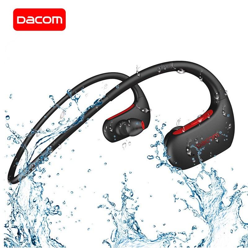 DACOM L05 deporte auriculares Bluetooth bajo IPX7 impermeable auricular inalámbrico Bluetooth auriculares con micrófono para Android auriculares