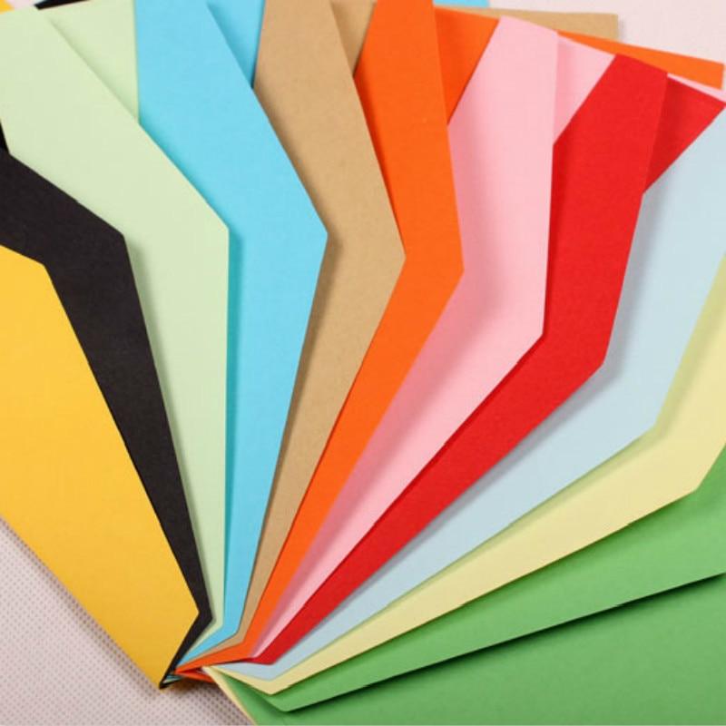 100 шт./лот, подарочная бумага для крафт-бумаги с 5 цифрами, конверты для визиток, 220*105 мм, поперечное сечение, западный стиль, треугольное уплот...
