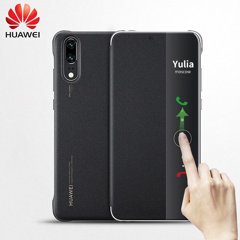 جراب سيليكون ذكي أصلي لهاتف Huawei P20 Pro ، جراب مغناطيسي فاخر بغطاء جلدي 360 مقاوم للصدمات P 20 P20PRO