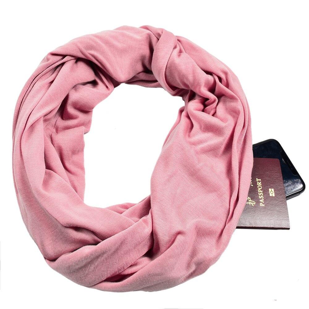 Bufanda de redecilla para mujer con bolsillo, bufandas con anillo plano liso, chales de algodón suave de verano para mujer, chales con cuello de viscosa para niñas