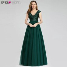 Vestido Madrinha jamais jolie vert foncé paillettes robes de demoiselles dhonneur a-ligne col en v sans manches robes formelles pour la fête de mariage
