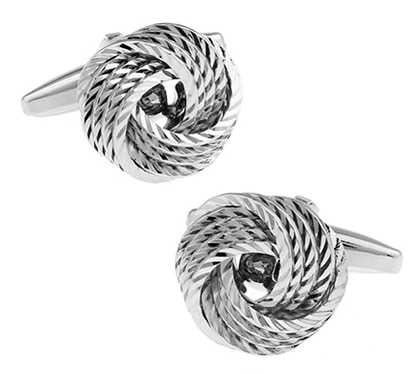 Factory Price Retail Cuff links Wholesale Gift Fashion Copper Material Silver Color Knot Design Cuff