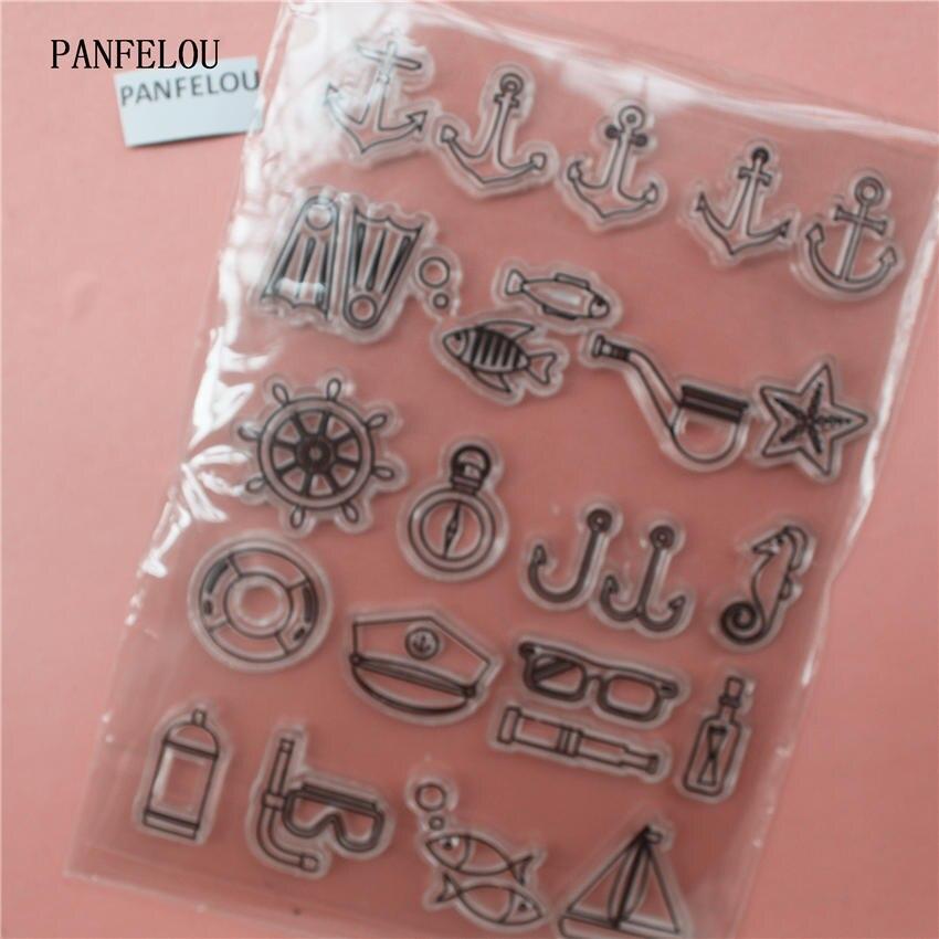 PANFELOU timón en el mar sello de silicona transparente/sello para DIY scrapbooking/álbum de fotos decorativo claro hojas de sello