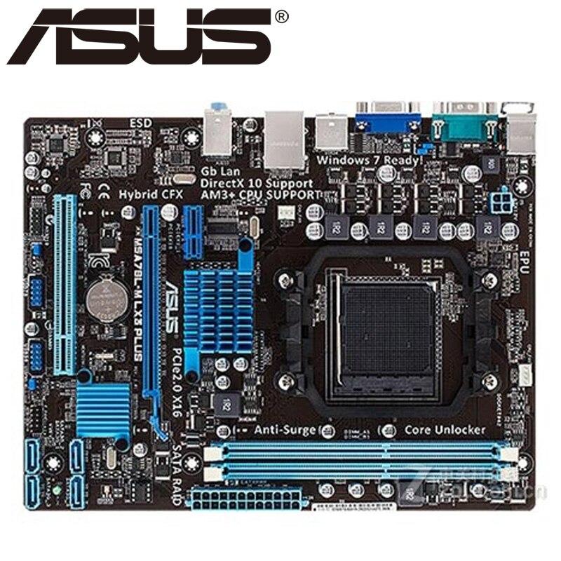 Asus M5A78L-M LX3 PLUS placa base 760G 780L hembra AM3 + DDR3 16G Micro ATX UEFI BIOS Original utilizado placa base