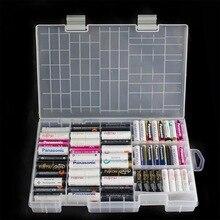 Super volume Trasparente di Plastica Storage Battery Box per collocato 100 pz AAA AA Batteria Holder Container coverd finitura scatola del kit
