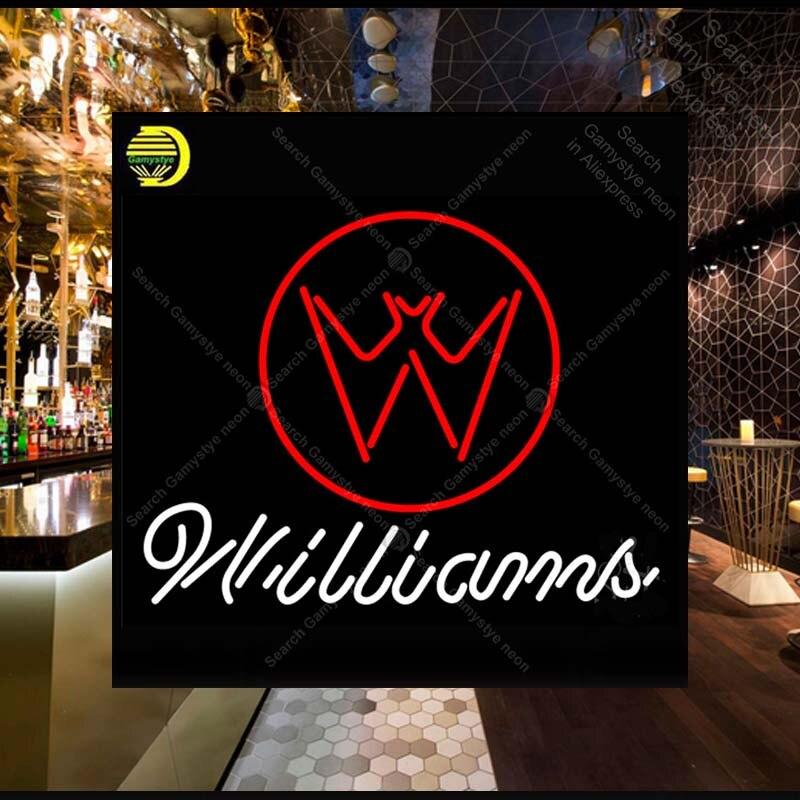 Willia sinal de néon tubo de vidro da lâmpada de néon bar bar pub loja exibição artesanato icônico sinal personalizado legal sinais néon logotipo do carro