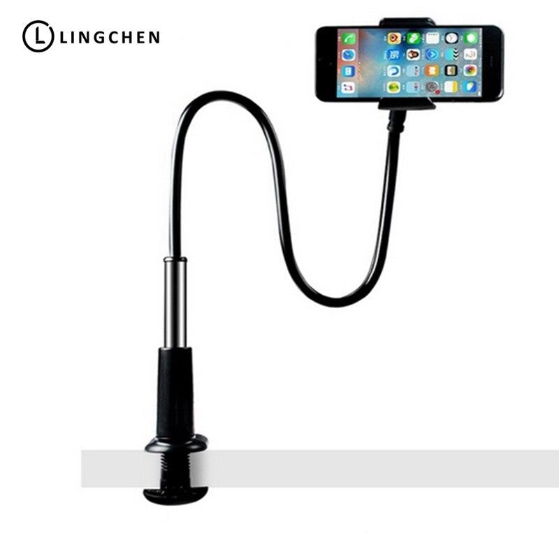 Soporte de escritorio Flexible LINGCHEN para teléfono Xiaomi Iphone Samsung con ajuste de brazos largos soporte de montaje Flexible