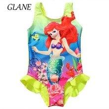 Syrenka księżniczka dziewczęcy strój kąpielowy mała syrenka Swimmable jednoczęściowy strój kąpielowy stroje kąpielowe bikini dziewczęce strój kąpielowy