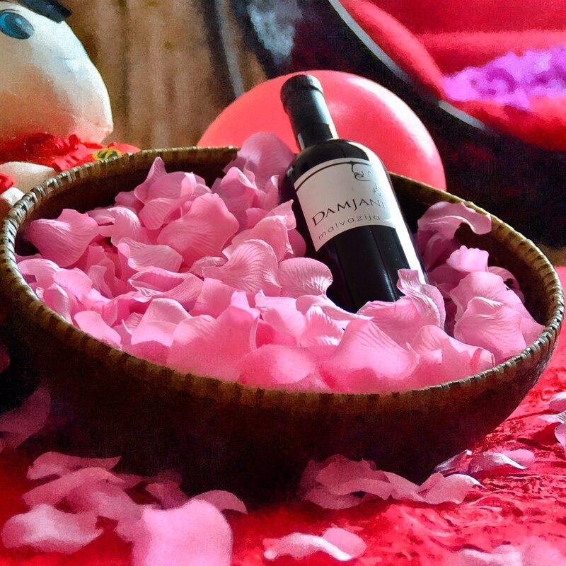 Pétalos de rosa para decoración de boda, pétalos de rosa artificiales, flores 100 unids/lote