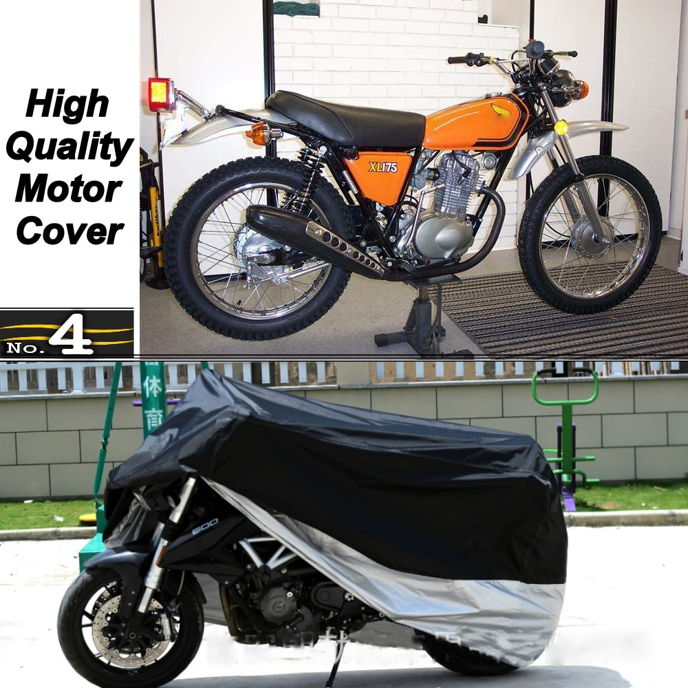 Cubierta de la motocicleta para Honda XL175 impermeable UV/SOL/polvo/cubierta protectora para lluvia hecha de tafetán de poliéster