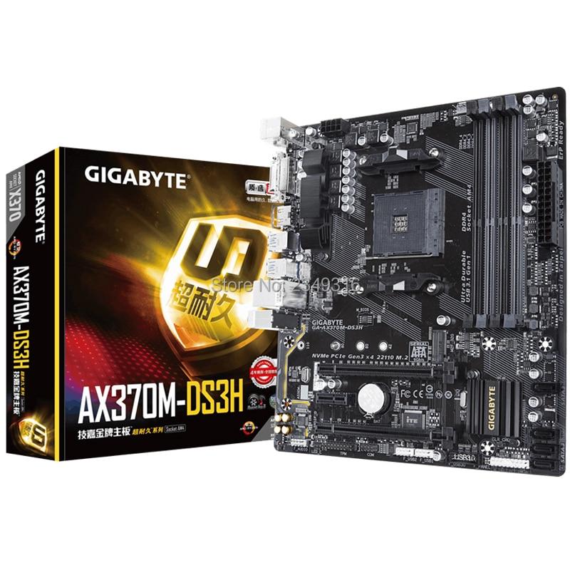 Для Gigabyte GA-AX370M-DS3H оригинальная новая материнская плата X370 AX370M-DS3H розетка AM4 DDR4 USB3.0 SATA3.0
