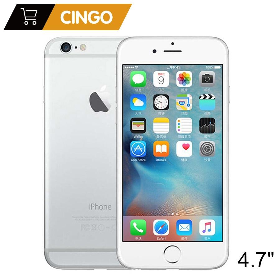 مقفلة ابل اي فون 6 IOS ثنائي النواة 1.4GHz 1GB RAM 16/64/128GB ROM 4.7 بوصة 8.0 MP كاميرا 3G WCDMA 4G LTE تستخدم الهاتف المحمول