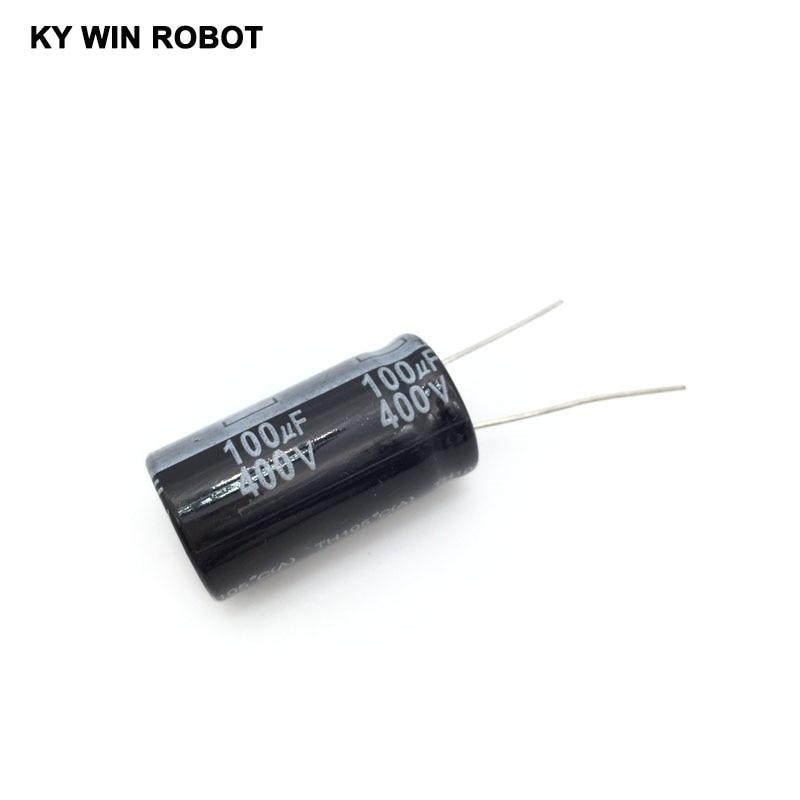 5 шт./лот алюминиевый электролитический конденсатор 400 В/100 мкФ 400 В/100 мкФ электролитический конденсатор Размер 18*30 мм плагин 400 в 100 мкФ