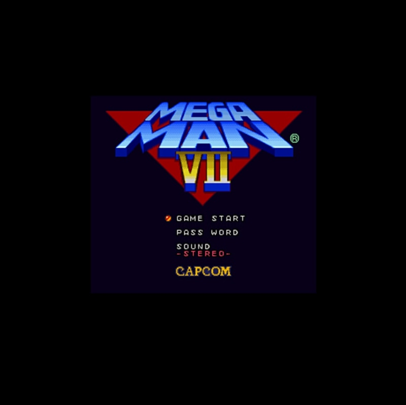 Mega Man-tarjeta de juego grande, 7, 16 bits, para jugador de juegos...