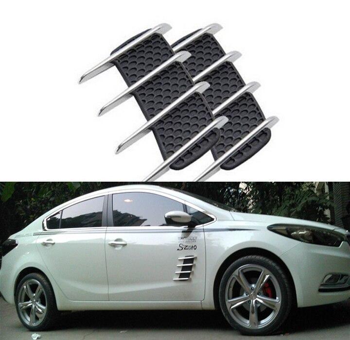 Corpo do carro ABS saída de ar adesivo simulação Air vento fluxo de ventilação moda estilo do carro decoração do corpo