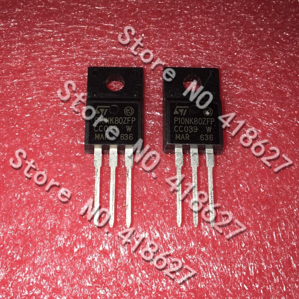 20 unids/lote STP10NK80ZFP P10NK80ZFP TO-220F 10N80 LCD tubo 10A 800 V
