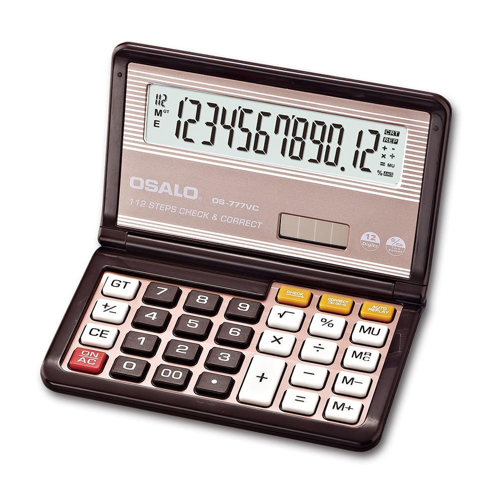 NEW 777 Flip Scientifice Caculator Folding Desktop Battery & Solar Calculator for School Convenient to carry caculators