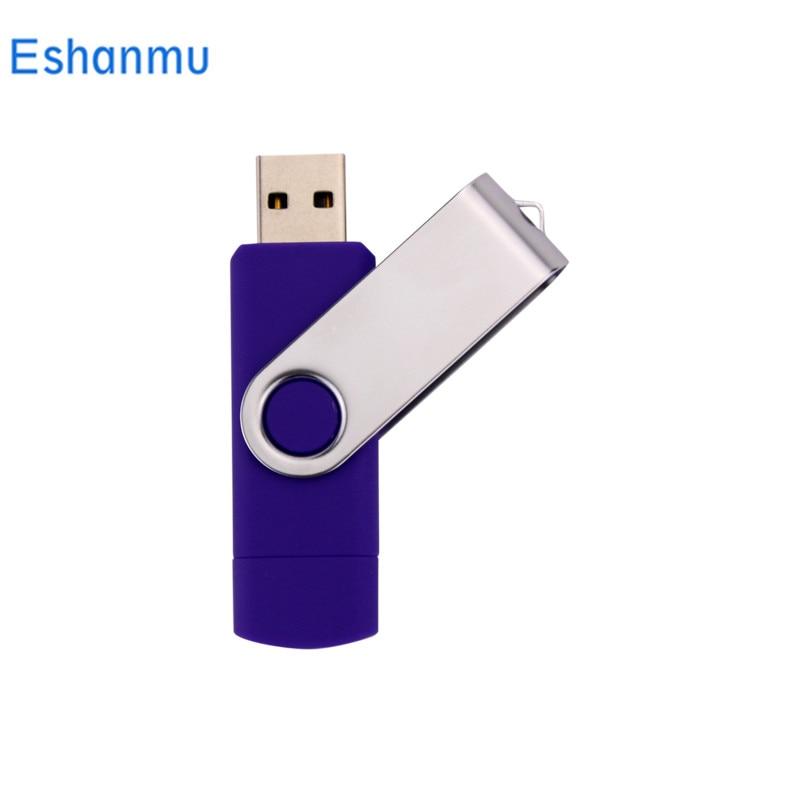 Novo Design Eshanmu Swviel USB Flash Drives Pen drive Externo 64 gb gb gb 8 16 32 gb 4 gb boa qualidade Pendrives pendrive Criativo