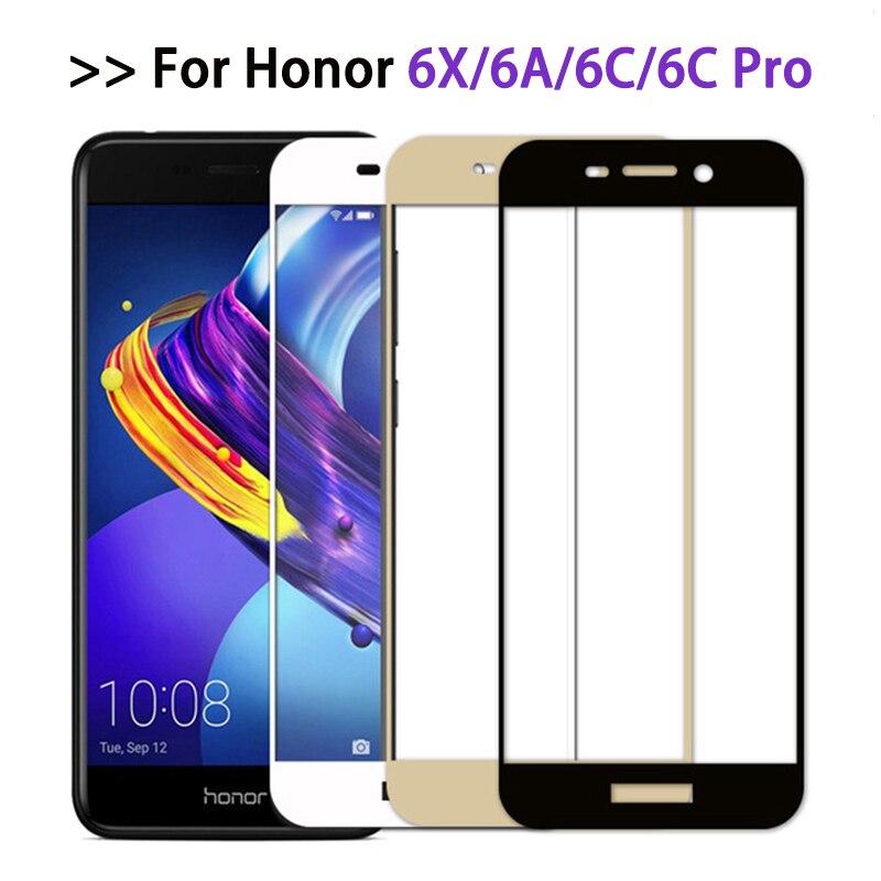Защитное стекло для Huawei Honor 6c pro, полное покрытие, Защита экрана для Honor 6x 6a, пленка из закаленного стекла honor6 6 a c x