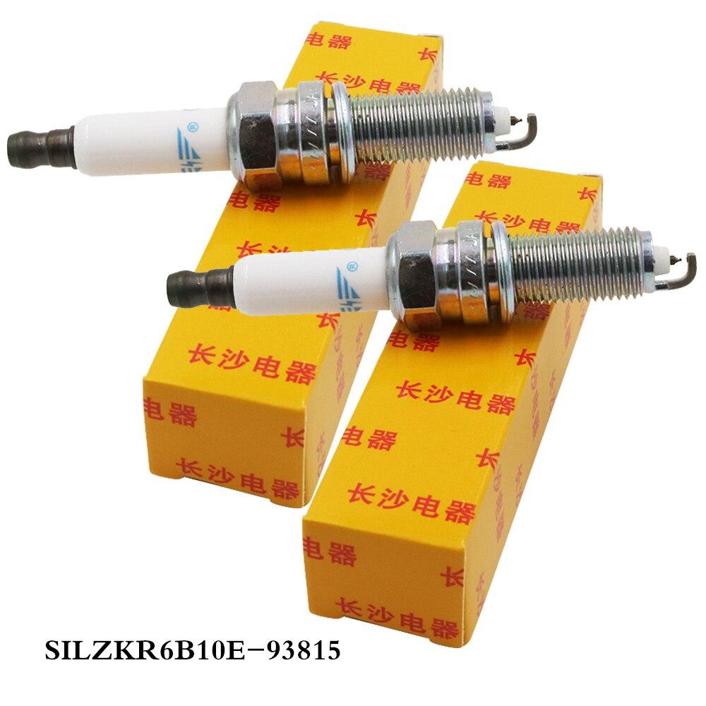 DS 20x SILZKR6B10E 93815 bujías de iridio velas para autos bujía de encendido brillante para ix25 HYUNDAI Elantra nuevo Elantra KIA K3/K3S 1.6L