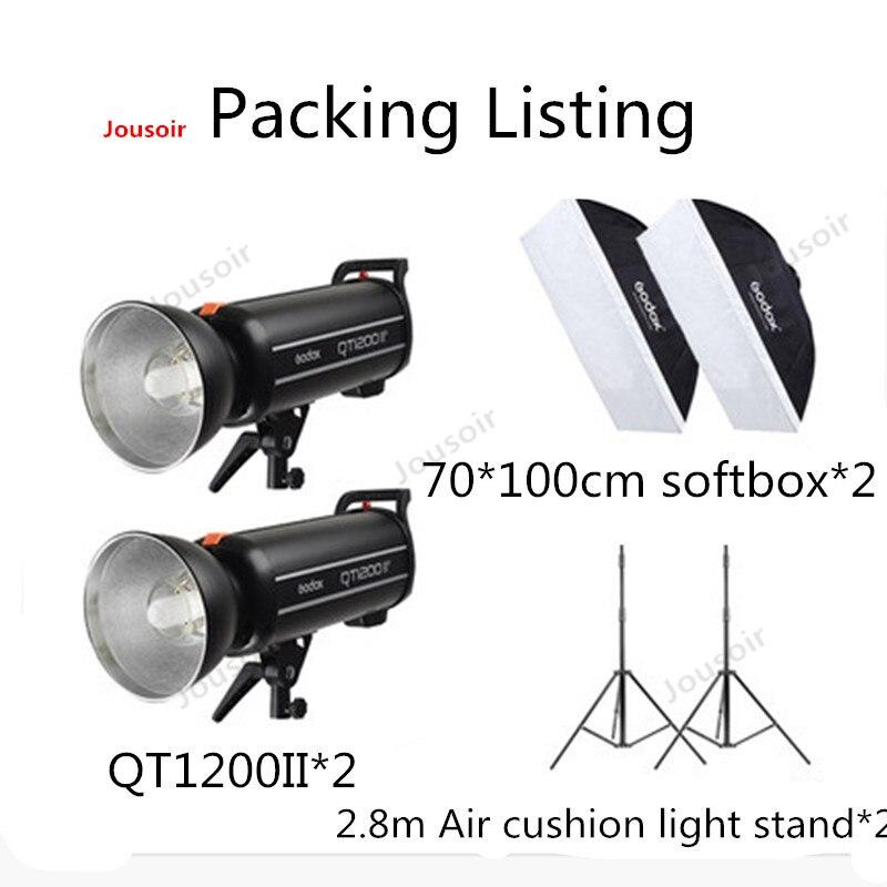Godox qt1200ii 1200 w flash kit 1200ws gn102 1/8000s de alta velocidade sincronização flash luz estroboscópica kit com 2.4g sistema sem fio cd50 t03 2y