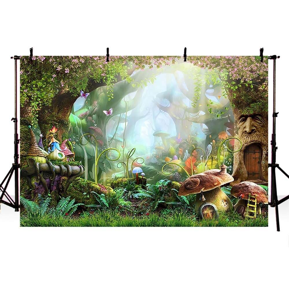 Сказочные фоны Mehofoto для вечеринки в стиле сафари, фоны для фотосъемки с изображением Алисы в стране чудес, Декорации для вечеринки, фон для ф...