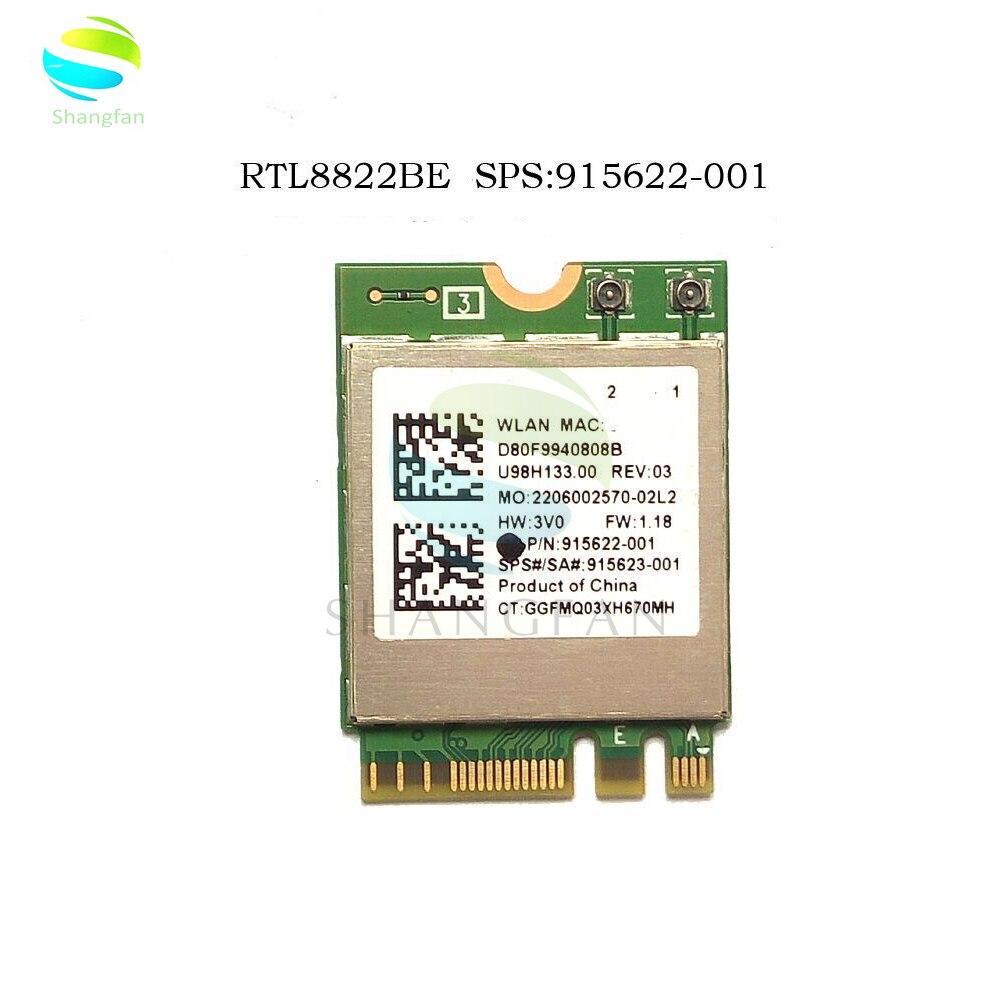 AC WIFI Adapter RTL8822BE 2,4G/5GHz 802,11 AC/A/B/G/N WiFi + Bluetooth 4,1 SPS915623-001 NGFF M.2 Wireless WLAN Karte