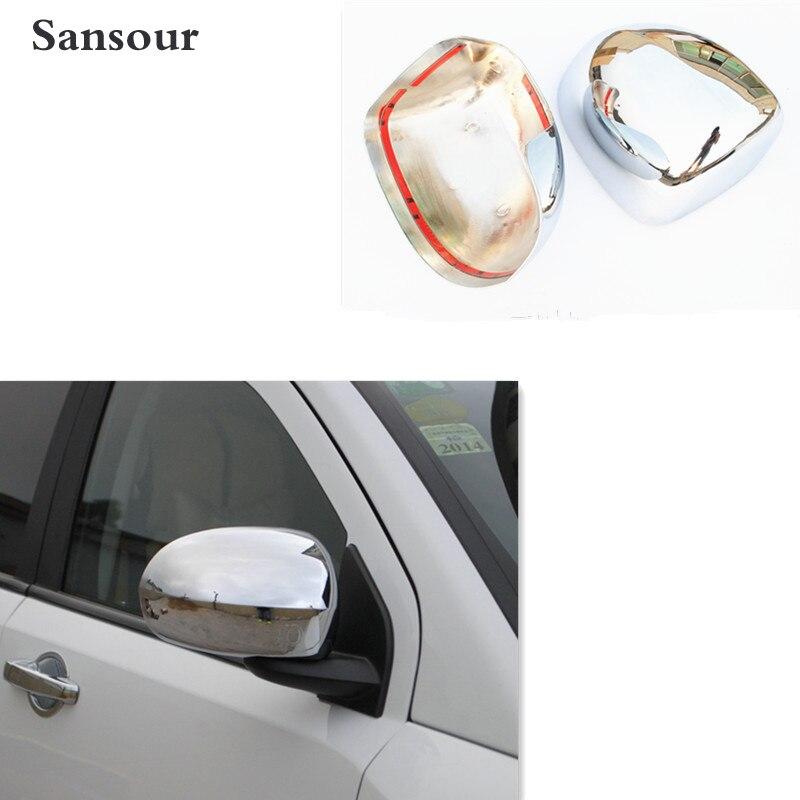 Sansour Guarnição ABS Chrome Retrovisor Porta Lateral Espelhos Capa para Jeep Compass 2011-2015 Com O Logotipo