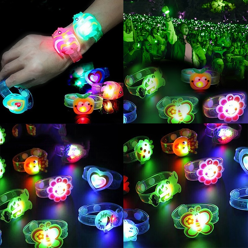 New Novelty Children Watch Strap With Luminous LED Lights Creative Bracelet Watch Flash Wrist Lumino