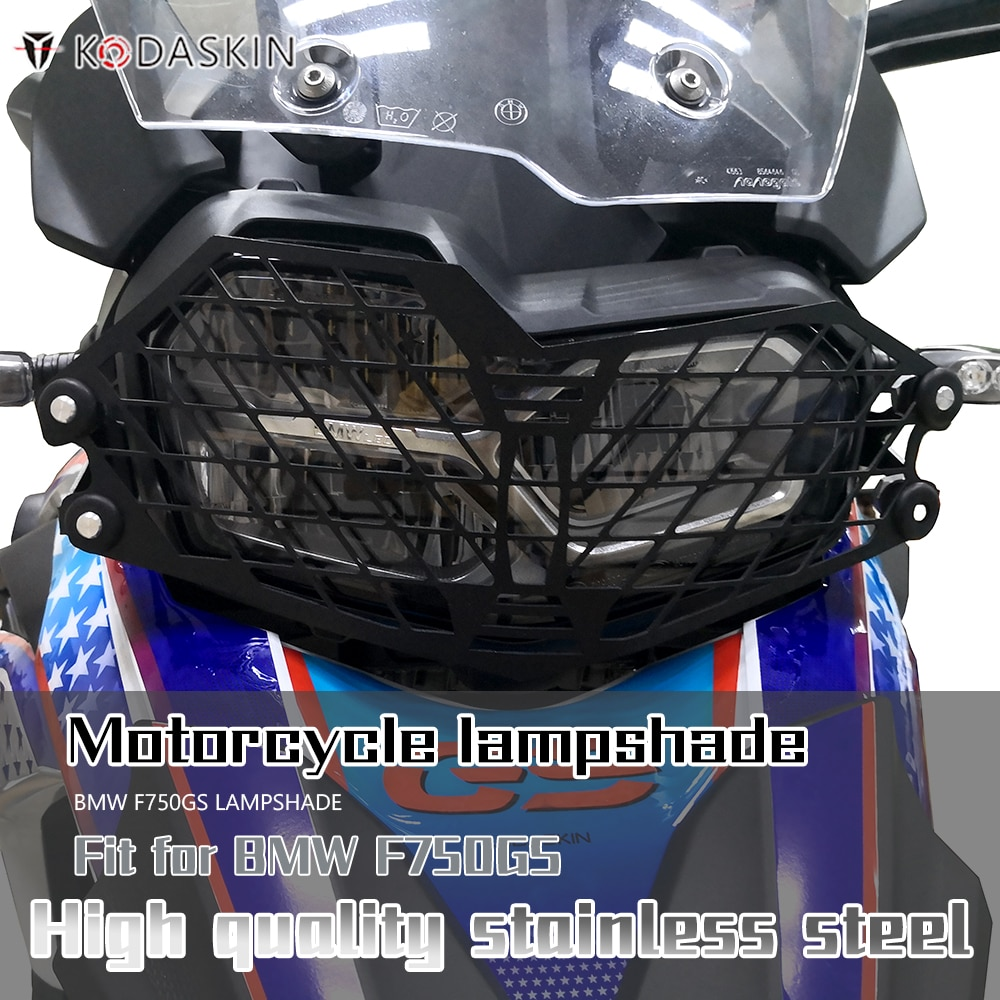 كوداسكين كشافات غطاء المصباح غطاء للحماية مصبغة الحرس عاكس الضوء جودة عالية الفولاذ المقاوم للصدأ لسيارات BMW F750GS