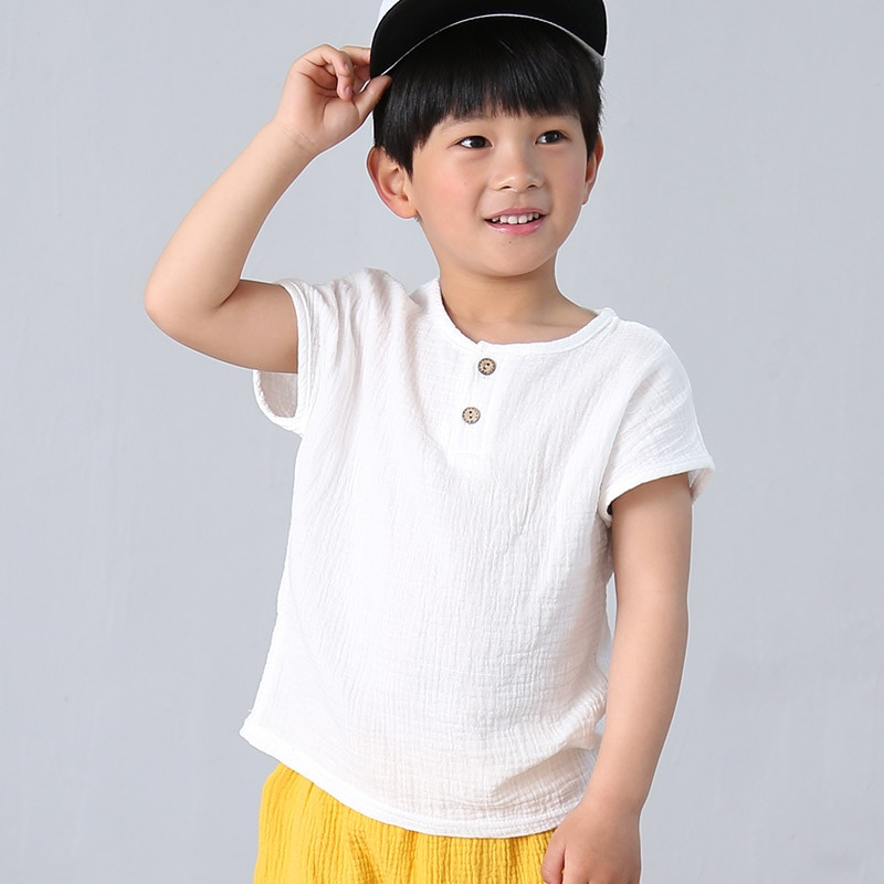 fashion linen pleated boys t shirt children t-shirt 2018 summer baby boys girls t-shirt children clothes kids short sleeve tops 2020 new summer boys t shirt girls t shirt girls t shirt cotton children s t shirt boys t shirt children s t shirt boys clothes
